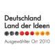 2010 – Ausgewählter Ort im Land der Ideen – eine Initiative der Bundesregierung und des BDJ